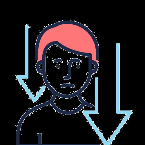 Depressed graphic